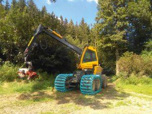 8-Rad-Harvester speziell für Weichböden